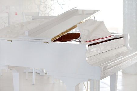 white piano photo