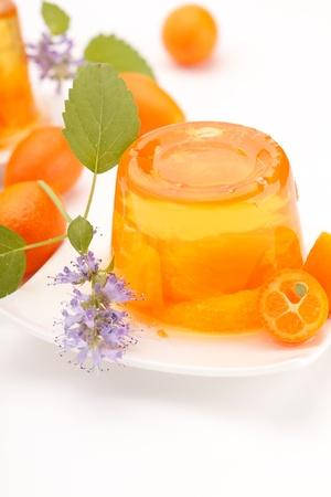gelatine: orange jelly