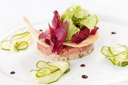 tartare: fish tartare  Stock Photo