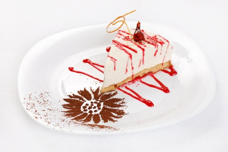 cheesecake with sauce photo