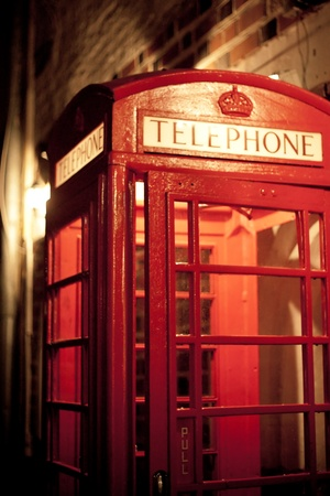 Old Style British Red Phone Boxes  photo