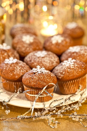 Christmas muffins Stock Photo - 11645334