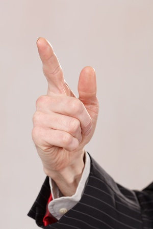businessman hand photo