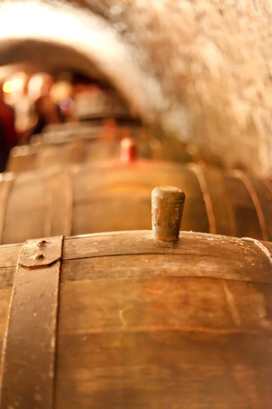 old wine cellar with barrels  photo
