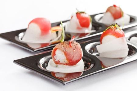 oriental cuisine: tasty sushi Stock Photo
