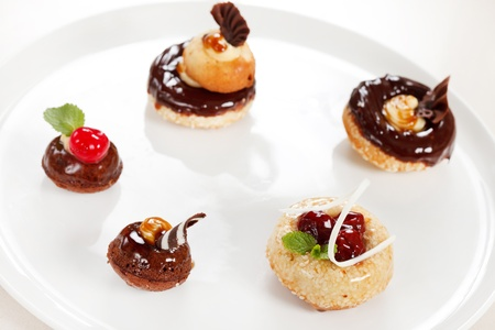 chocolate pastries photo