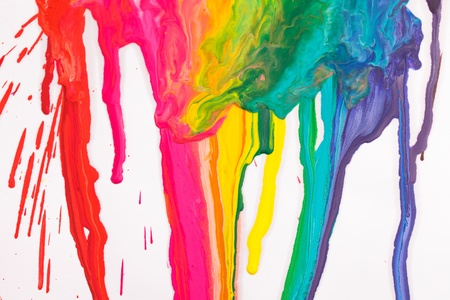primary colours: Paint dripping  Stock Photo
