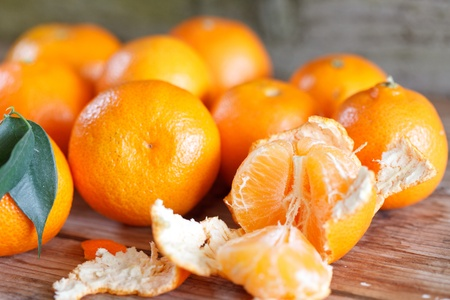 fresh tangerines Stock Photo - 12355544