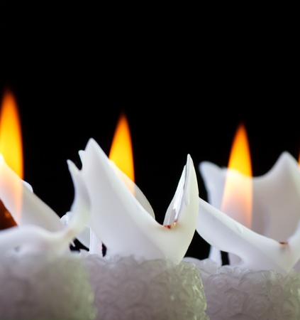holy night: candles in the dark