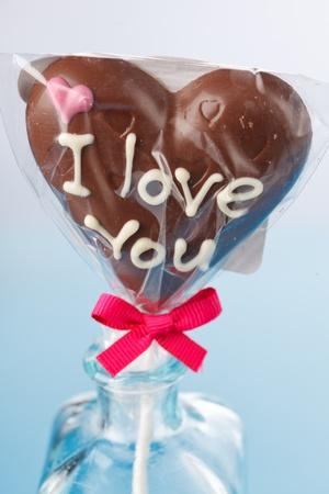 candy hearts: chocolate heart