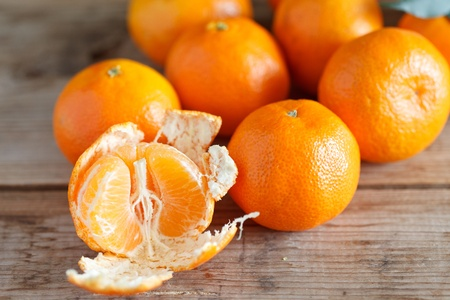 fresh tangerines Stock Photo - 12353102