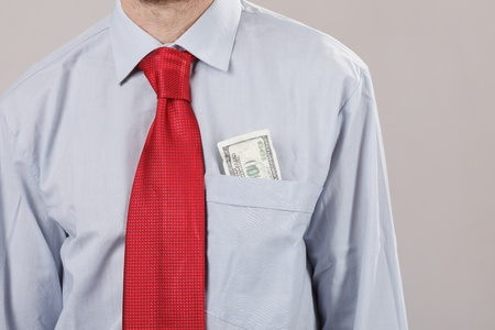 businessman with red tie photo