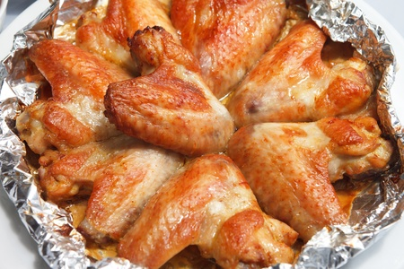 Chicken wings with sauce photo