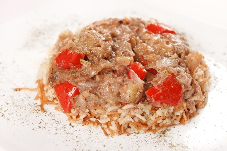 rice wiht meat and vegetables Stock Photo - 12985611