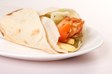 tortilla with meat and vegetables Stock Photo - 12985183