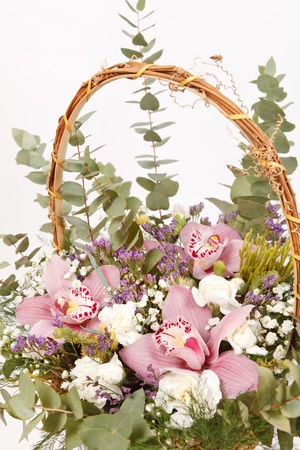 beautiful flowers in the basket Stock Photo - 12985713