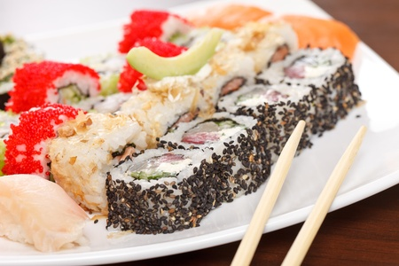 sushi on the plate Stock Photo - 12985528