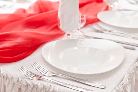 Wedding table setting  Stock Photo - 13252378