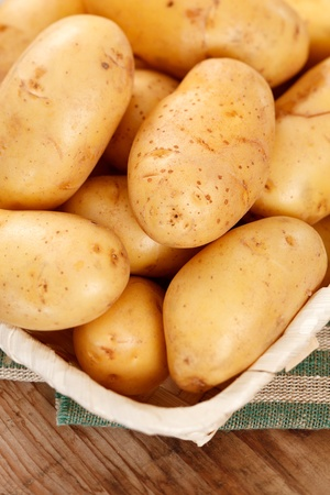 fingerling: fresh potatoes