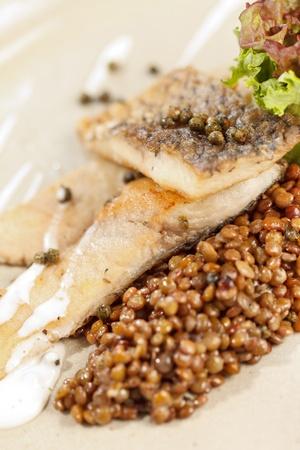 green lentil: carp with green lentil