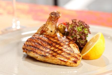 de poulet avec des légumes