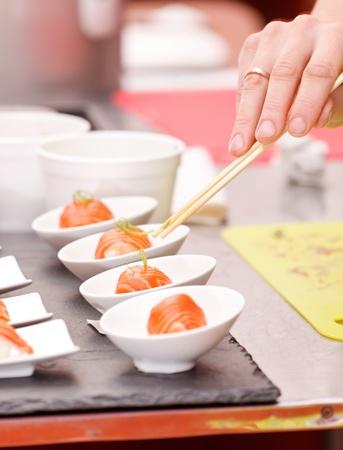 makki: sushi on the table Stock Photo