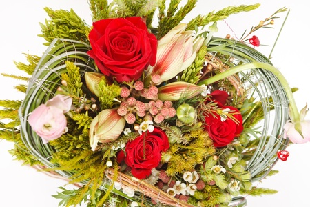 beautiful flowers in the basket Stock Photo - 13473470
