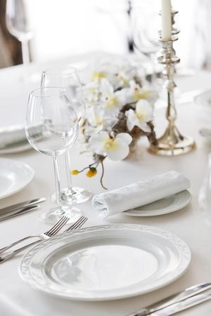 wedding table: restaurant interior  Stock Photo