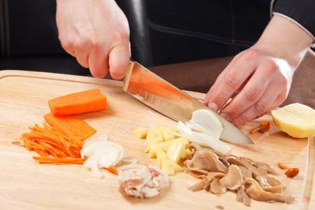 chef at work Stock Photo - 13565380