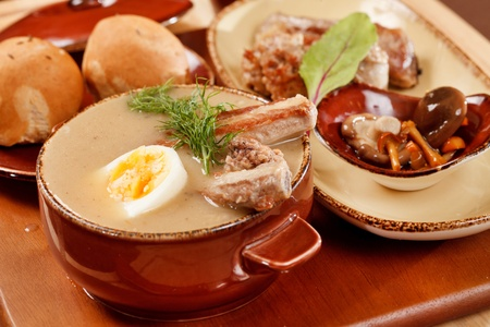 traditional soup with ribs Stock Photo - 13566233