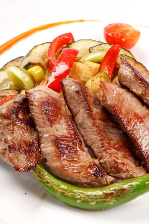 lamb with vegetables photo