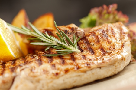 chicken breast: chicken with roasted potatoes