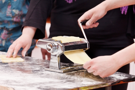 chef making pasta  photo