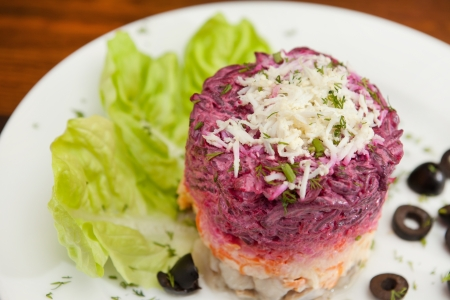 Russian herring salad  photo