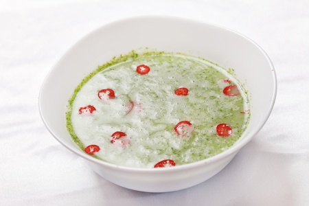 spinach cream soup photo