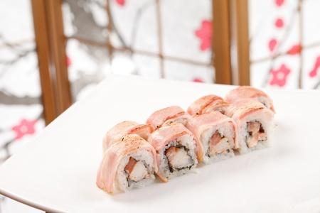 sushi with shrimp and bacon Stock Photo - 13836658