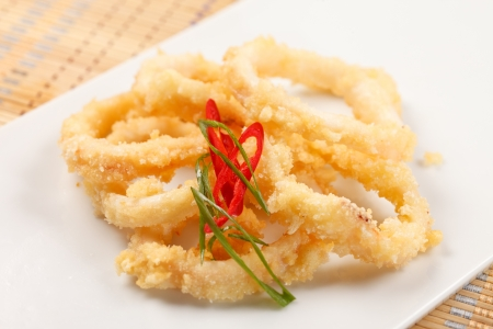 breaded: Fried Calamari Rings