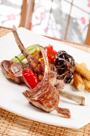 ribs with vegetables Stock Photo - 13900715