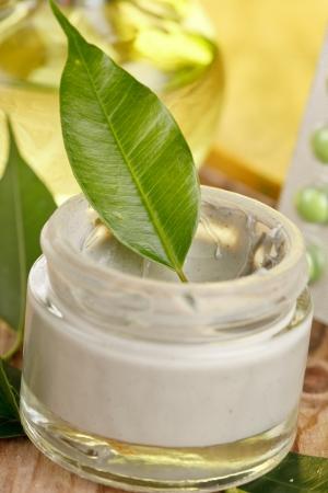 botte of organic cream photo