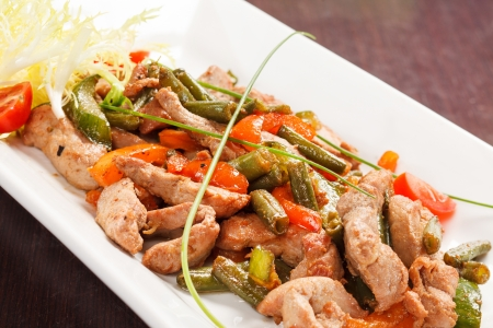 Meat with String Beans photo