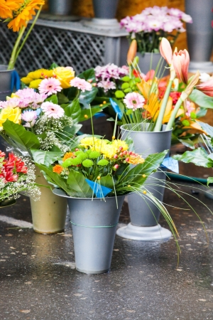 flowers at the flower market  photo