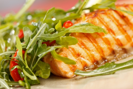 prepared: grilled salmon