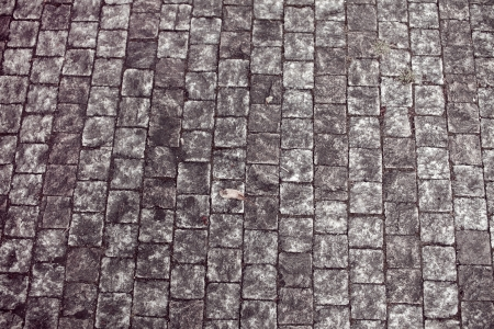 interstice: block pavement