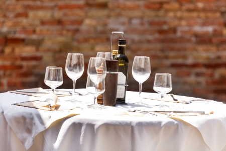 wine on the table photo