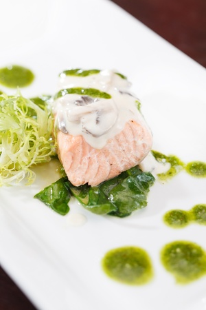 Salmon Fillet in Cream Sauce  photo