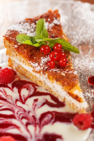 cake with berries photo