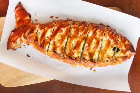 pescado frito: pastel de pescado