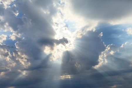 sky with sun  photo