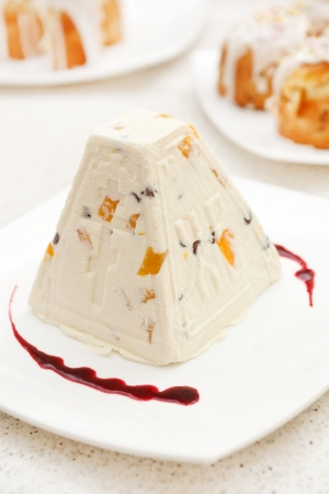 the feast of the passover: traditional Easter dessert Stock Photo