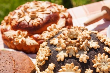 fresh homemade bread photo